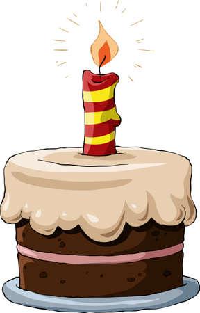 torta panna: Torta su sfondo bianco