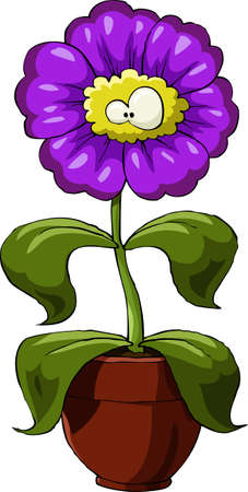 Cartoon flower on a white background Vector