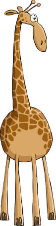white background giraffe: Funny Giraffe on white background, vector illustration