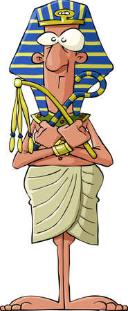 egyptian: Pharaoh on a white background, vector illustration