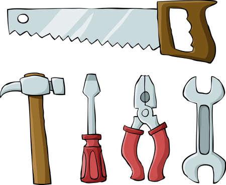the hammer: Herramientas sobre un fondo blanco, ilustraci�n vectorial