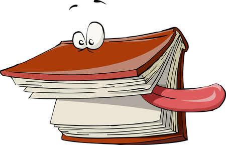 libro caricatura: Libro sobre un fondo blanco