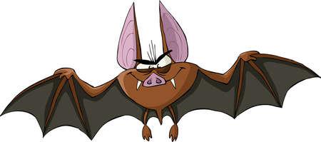 sanguijuela: BAT sobre un fondo blanco, ilustraci�n Vectores