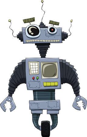 Robot on a white background illustration Stock Vector - 10686319