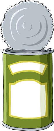 Op een witte achtergrond, vectorillustratie van tin
