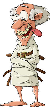 Ein Psychopath in eine Zwangsjacke, Vektor-illustration
