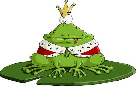 principe: Il re di rana su sfondo bianco Vettoriali