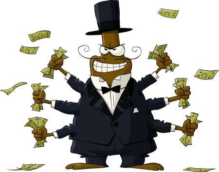 Kever met geld in de hand Vector Illustratie