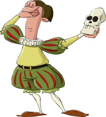 Hamlet na białym tle