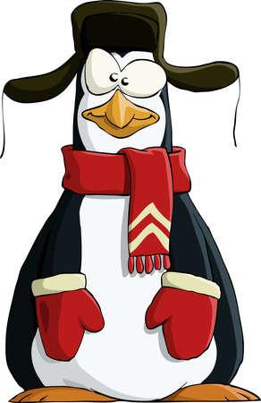 szigetelés: Penguin, fehér alapon Illusztráció