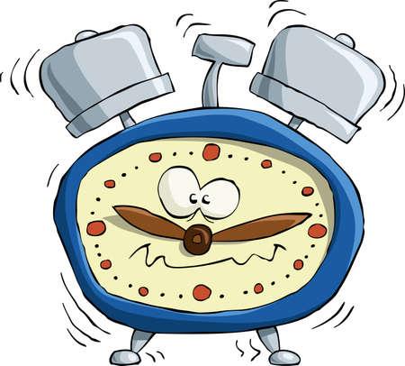 Alarm clock on white background, vector illustration Stock Vector - 10825948