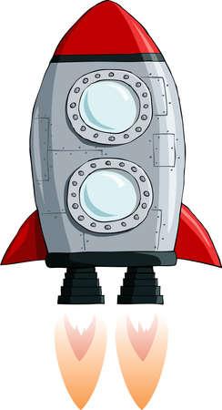 rocket: Rocket on a white background, vector illustration Illustration