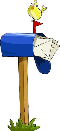 Boîte aux lettres sur un fond blanc, illustration vectorielle Vecteurs