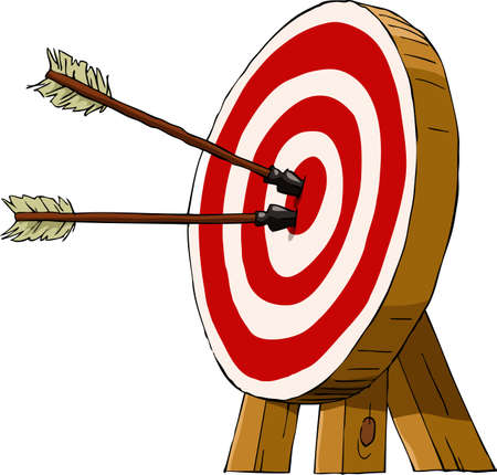archer cartoon: Target on a white background, vector illustration Illustration