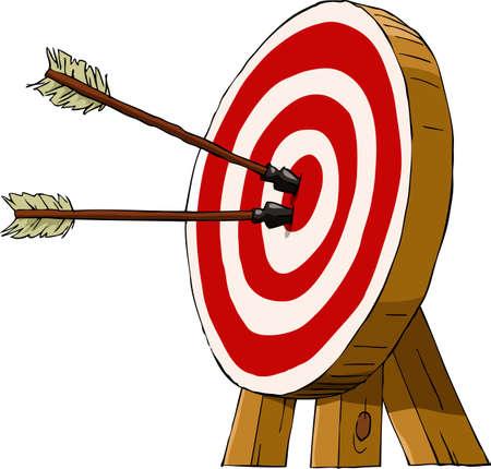 Target op een witte achtergrond, vector illustratie Vector Illustratie