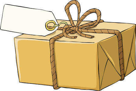 tally: Box on a white background Illustration
