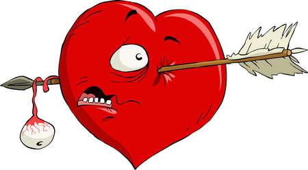 Cartoon heart with an arrow Stock Vector - 10930411