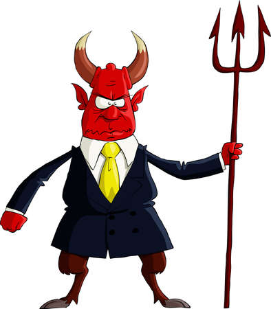 antichrist: The Devil on a white background Illustration