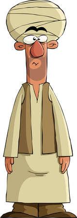 homme arabe: Arabe sur un fond blanc, vector illustration Illustration