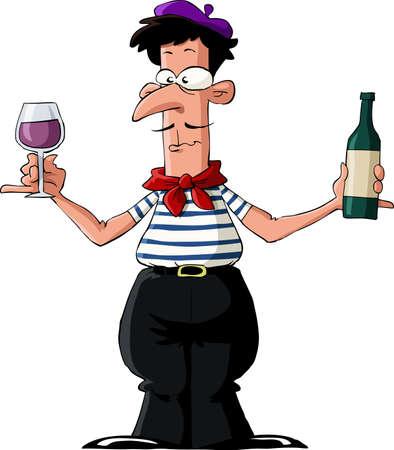 Frenchman sur un fond blanc, vector illustration