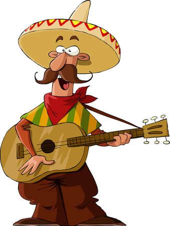 Mexicain sur un fond blanc, illustration vectorielle Illustration