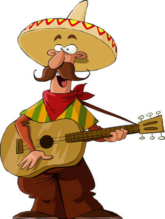 Mexican on a white background, vector illustration