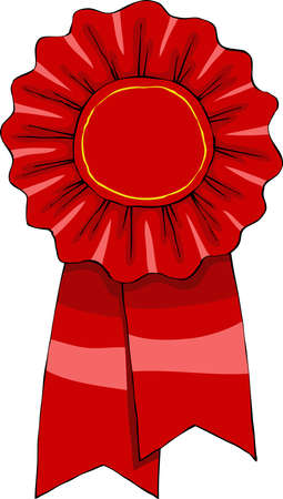 award ribbon rosette: Award on a white background, vector illustration Illustration