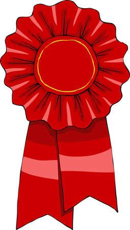 rosette: Premio en una ilustraci�n vectorial de fondo blanco,