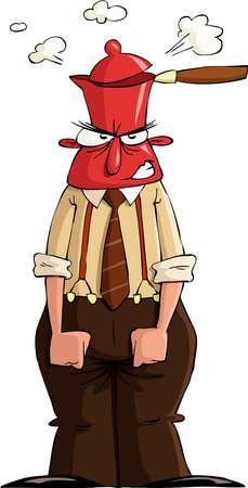 kettles: Un hombre en una rabia, ilustraci�n vectorial