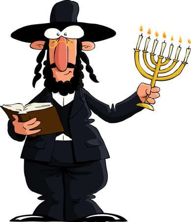 yiddish: Ebreo su uno sfondo bianco, illustrazione vettoriale