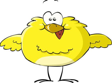 pollo caricatura: El pollo en una ilustración vectorial de fondo blanco, Vectores