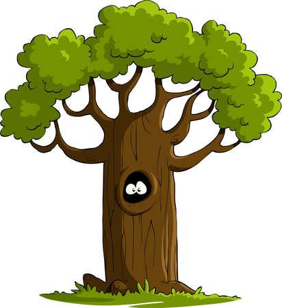 ocas: Un árbol sobre un fondo blanco, vector