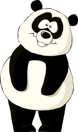 panda: Panda on a white background, vector illustration