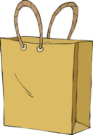 Shopping bag on white background, vector illustration Vector