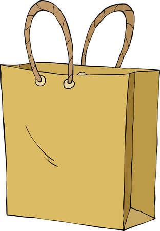 bag cartoon: Shopping bag on white background, vector illustration