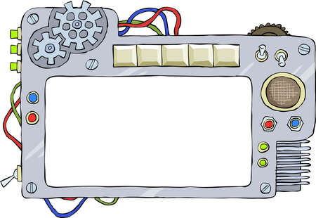 tumbler: The mechanical frame on a white background, vector Illustration