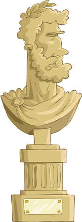 bust: Antique bust on a white background, vector