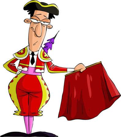 torero: Torero auf wei�em Hintergrund, Vektor-Illustration Illustration