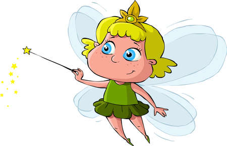 Little Fairy on a white background, vector Vector