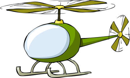 Helicopter on a white background, vector illustration