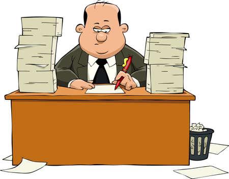 Bureaucraat op een witte achtergrond, vector illustratie