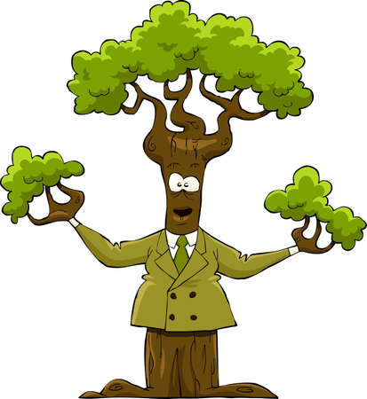 The tree in the yellow suit, vector illustration Stock Vector - 11874187