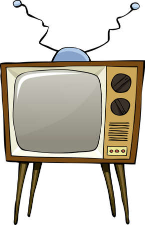 tele: TV on a white background, vector illustration