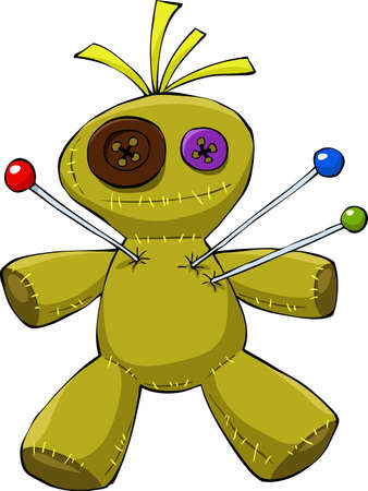 voodoo: Voodoo doll on a white background, vector