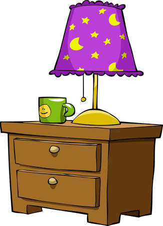 night table: Nightstands on a white background, vector illustration Illustration