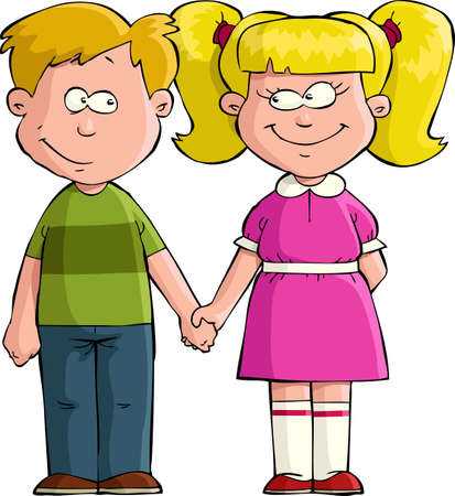friendship women: Boy and girl holding hands