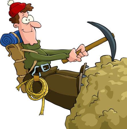 bergsteiger: Bergsteiger klettern auf den Felsen