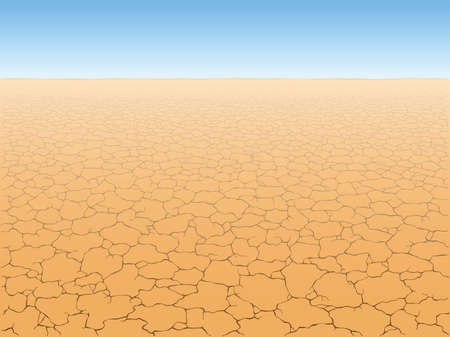 crannied: Desert landscape with cracked earth
