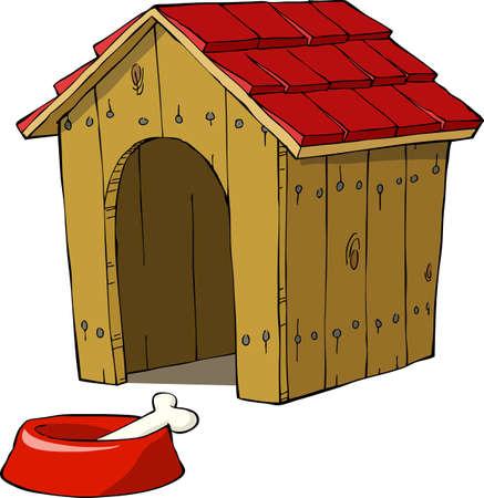 casa de perro: La casa del perro y el cuenco con una ilustraci�n del hueso