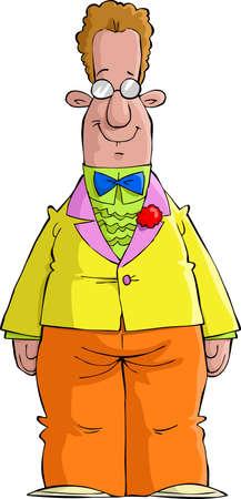 A man in a bright dress vector illustration Stock Vector - 13607186